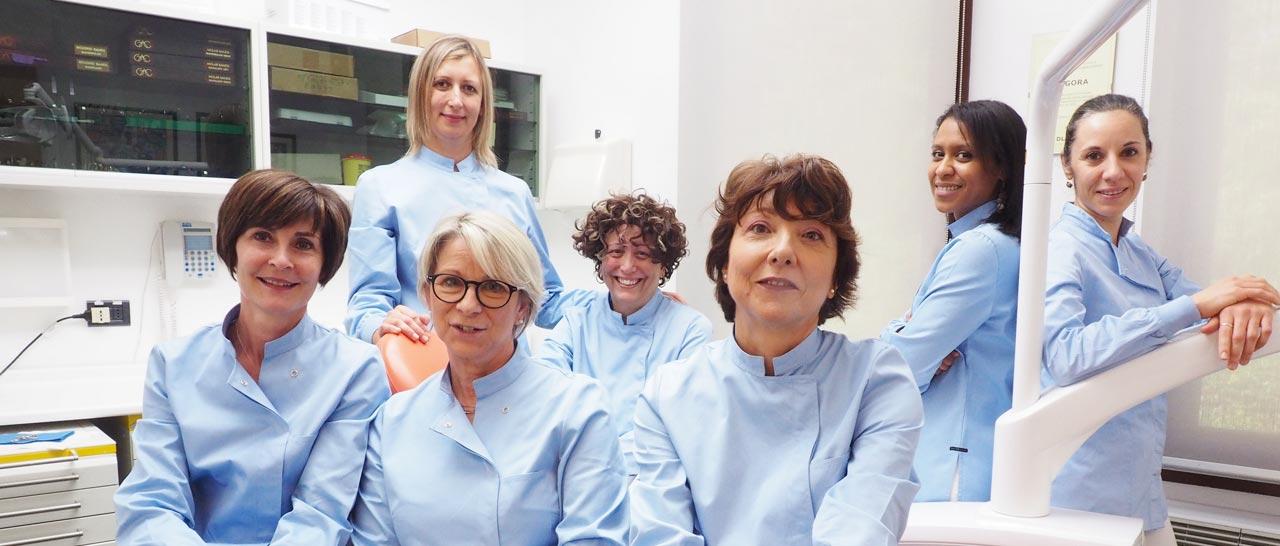 Assistenti dello Studio Dentistico Pasini Steffan Celant Rosso