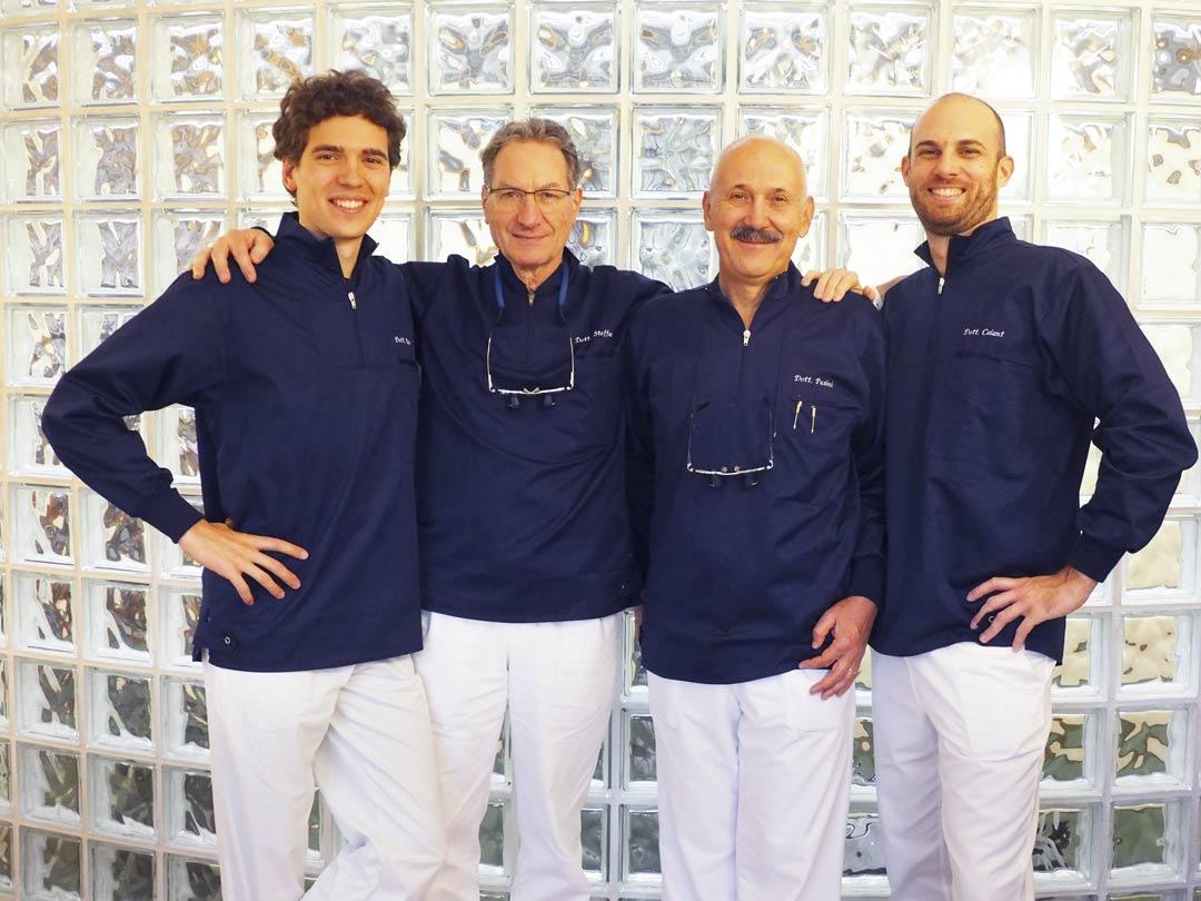 Il team dello Studio Dentistico Pasini Steffan Celant Rosso
